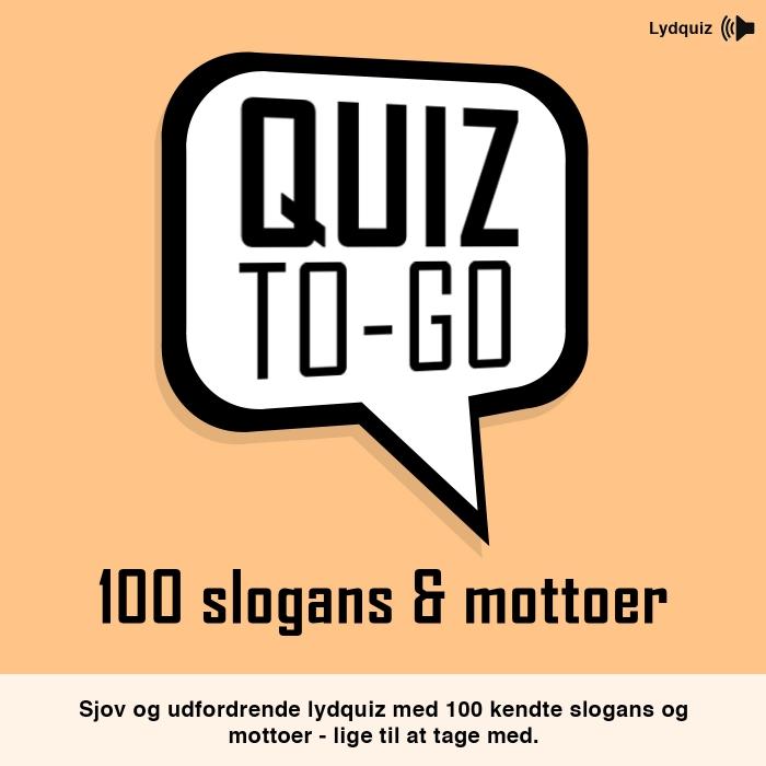 Image of Lydquiz: 100 slogans og mottoer (Lydbog)