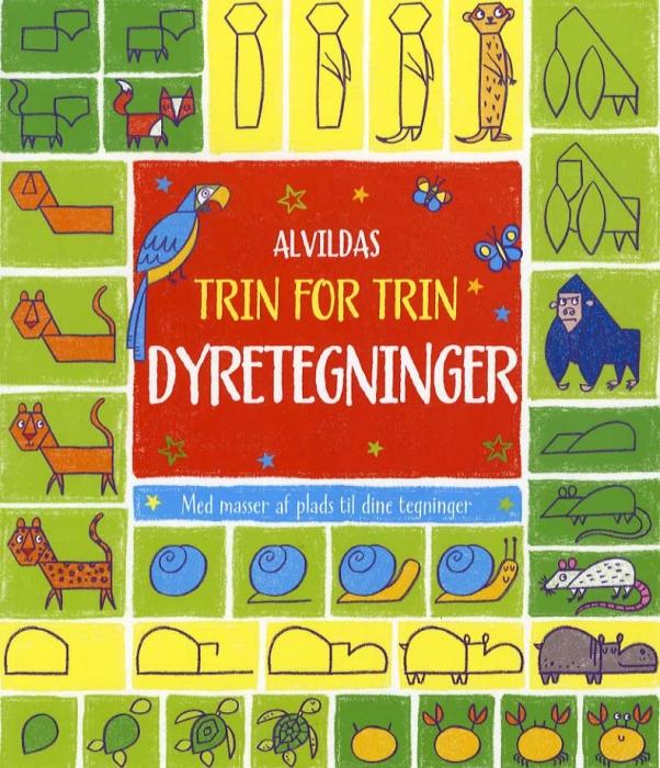 Image of   Alvildas trin for trin-dyretegninger (Bog)