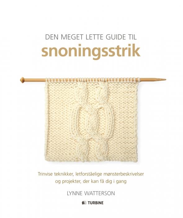 Image of   Den meget lette guide til snoningsstrik (Bog)