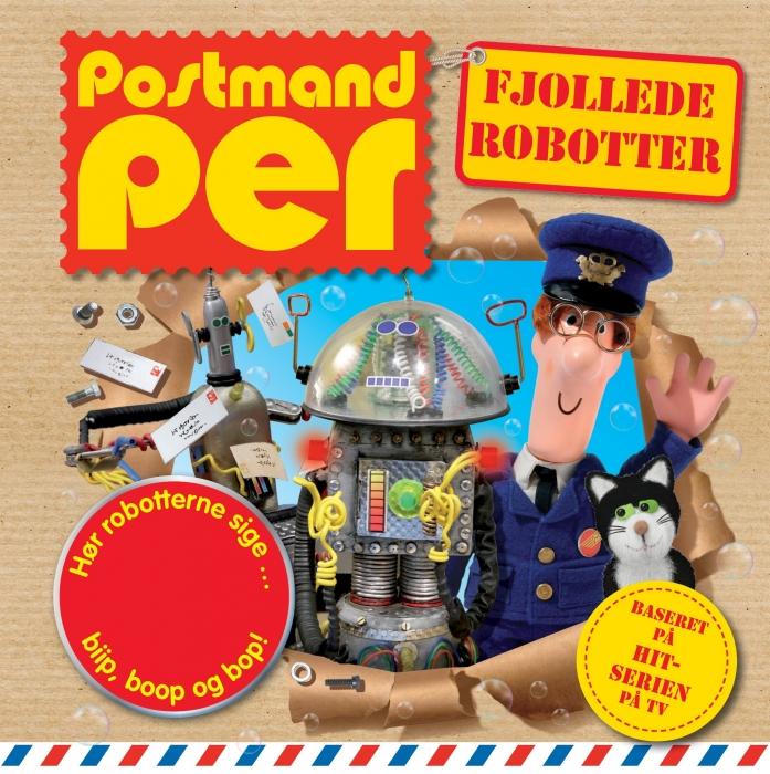 Postmand Per - Fjollede robotter  -  lydknapbog (Bog)