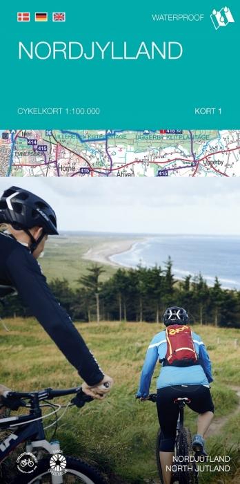 Image of   Cykelkortserie Danmark 1: Nordjylland (Bog)