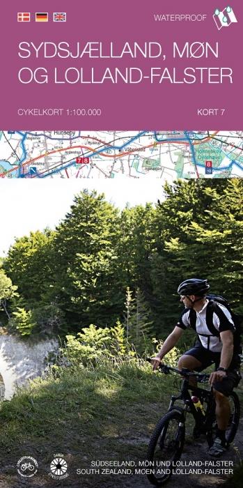 Image of   Cykelkortserie Danmark 7: Sydsjælland, Møn og Lolland-Falster (Bog)