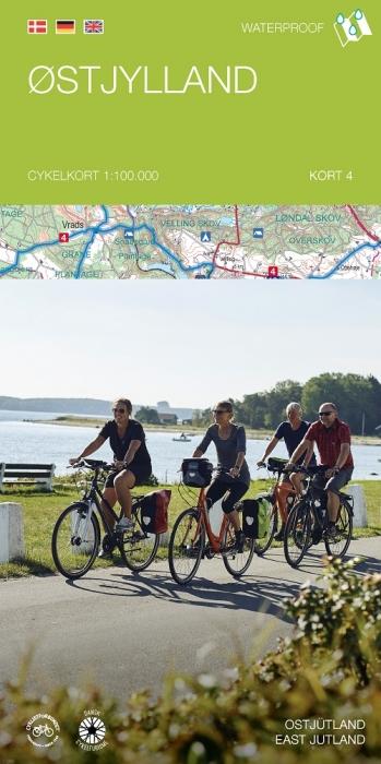 Image of   Cykelkortserie Danmark 4: Østjylland (Bog)