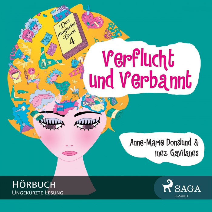 Image of Das magische Buch 4 - Verflucht und Verbannt (Lydbog)