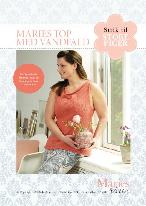 Image of   Strikkeopskrift - Maries top med vandfald (E-bog)