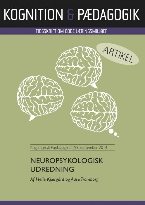 Image of Neuropsykologisk udredning (E-bog)