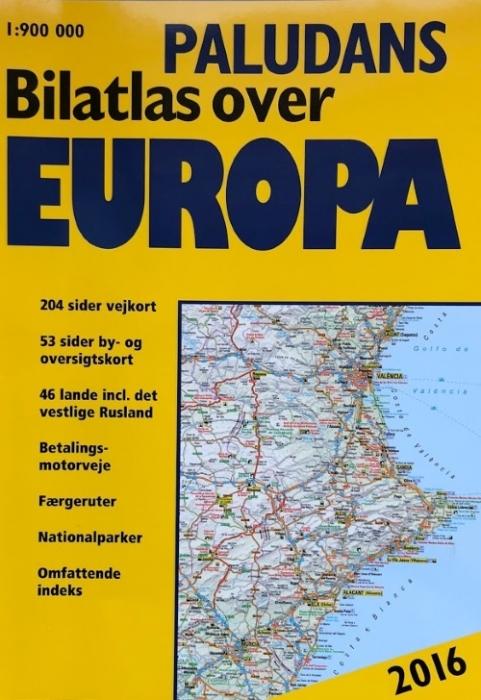 Paludans Bilatlas over Europa 2016 (Bog)