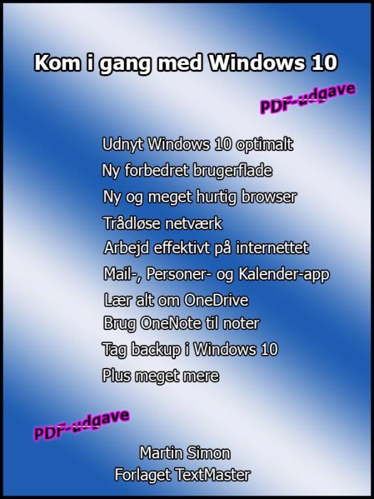 Kom i gang med Windows 10 (E-bog)
