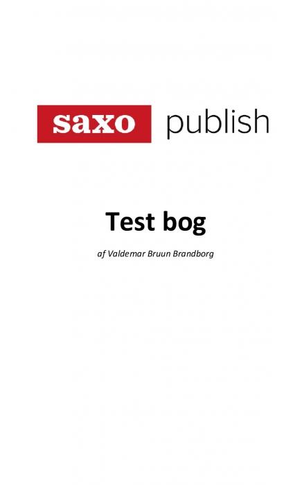Image of   TEST BOG: Saxo Publish (Bog)