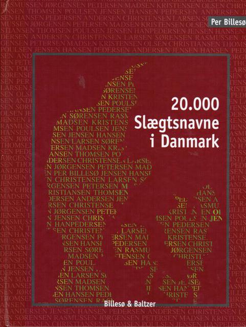 Image of   20.000 slægtsnavne i Danmark (E-bog)