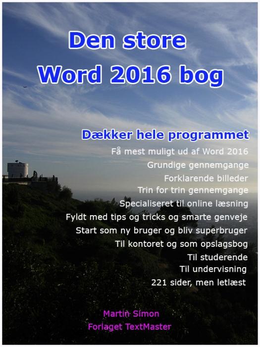 Image of   Den store Word 2016 bog (E-bog)