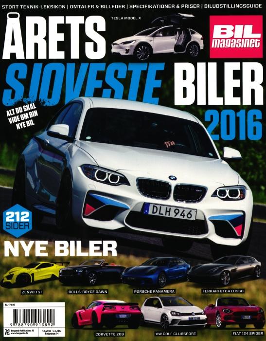Image of   Årets Sjoveste Biler 2016 (Bog)