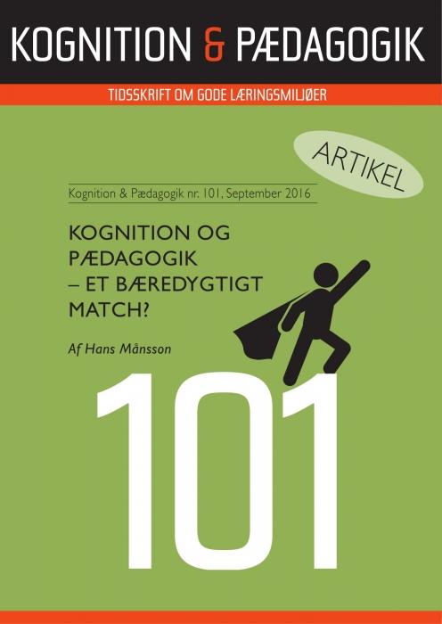 Kognition & Pædagogik  -  et bæredygtigt match? (E-bog)