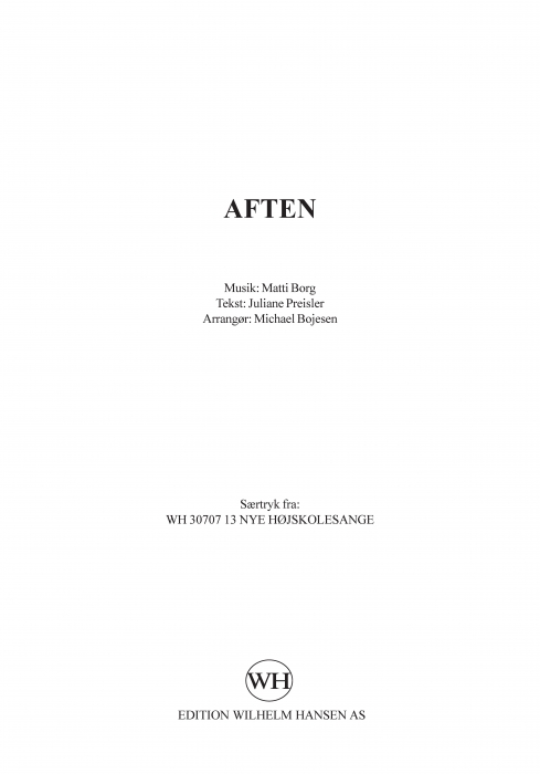 Image of   Aften (E-bog)