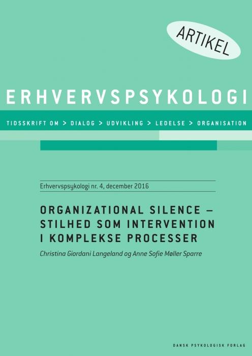 Image of Organizational Silence (E-bog)
