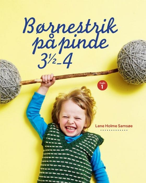 Image of   Børnestrik på pinde 3,5-4 (Bog)