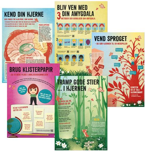 Plakater til Hjernesmart pædagogik (Bog)