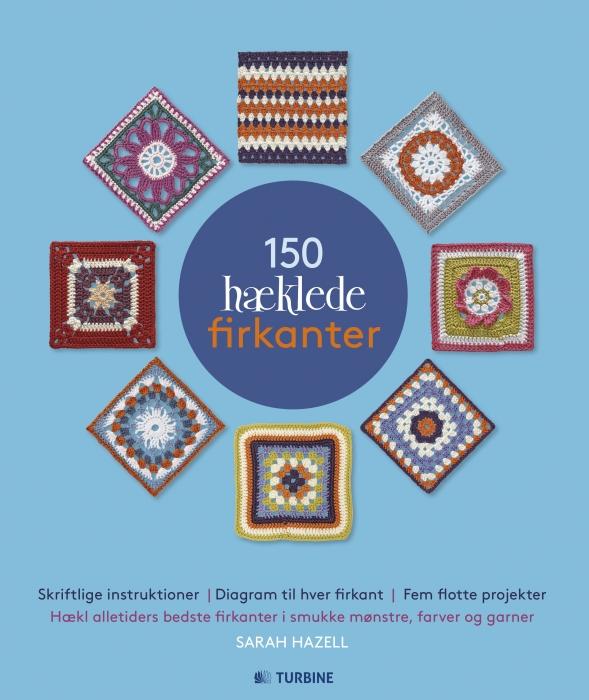 Image of   150 hæklede firkanter (Bog)