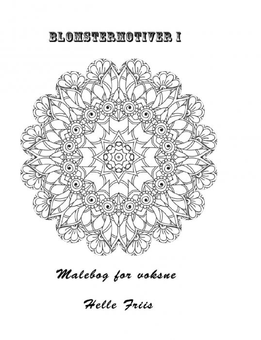 Image of   Blomstermotiver I Malebog for voksne (Bog)