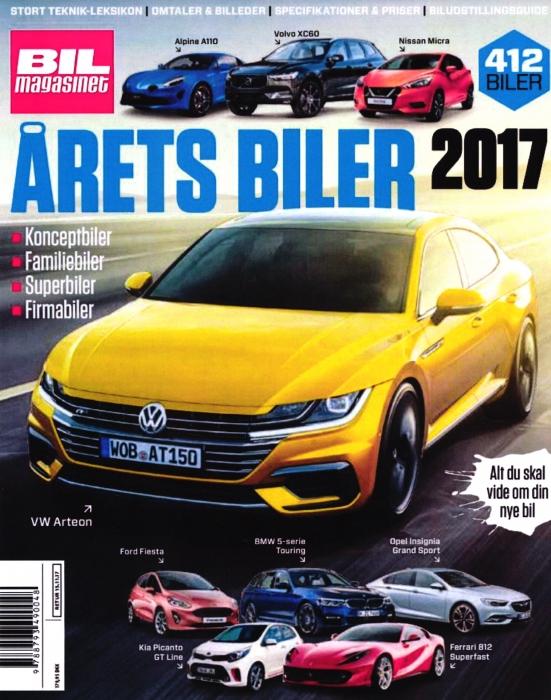 Image of   Årets Biler 2017 (Bog)