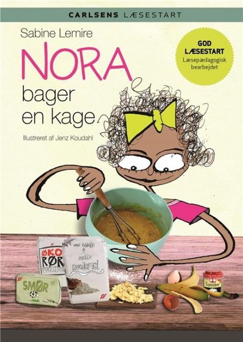 Billede af Sabine Lemire, Carlsens Læsestart - Nora bager en kage (Bog)