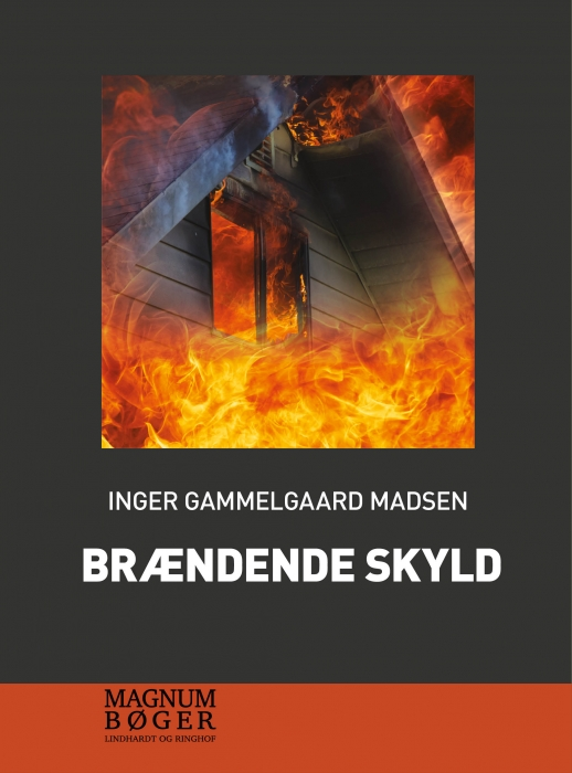 Image of   Brændende skyld (storskrift) (Bog)