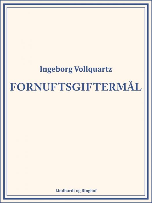 Image of   Fornuftsgiftermål (E-bog)