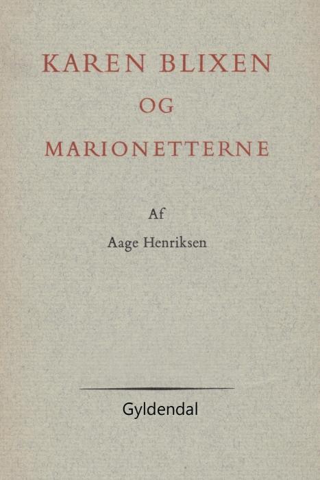 Image of Karen Blixen og marionetterne (E-bog)