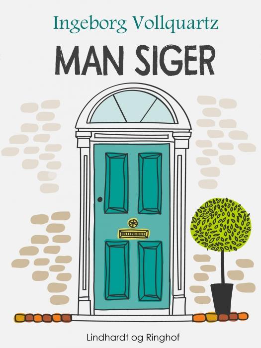 """Image of   """"Man siger -"""" (Bog)"""
