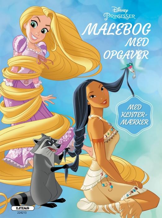 Prinsesser: malebog med opgaver (kolli 6) (Bog)