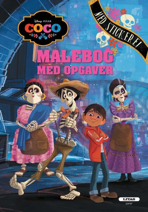 Image of   Coco: malebog med opgaver (kolli 6) (Bog)