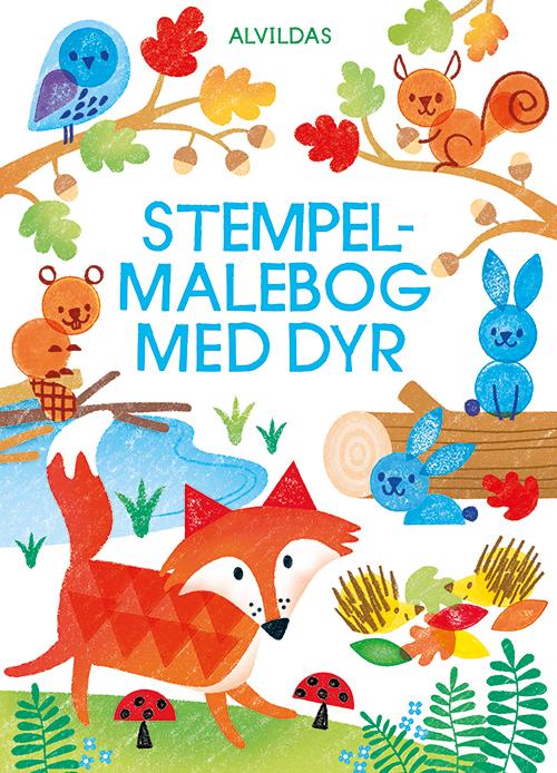 Image of   Alvildas stempel-malebog med dyr (Bog)