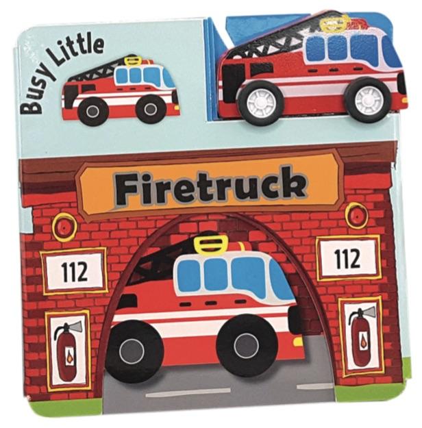 Image of   Den lille travle brandbil (Bog)