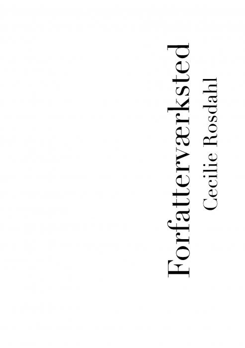 Image of   Forfatterværksted (Bog)