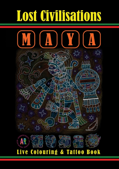 Image of   Lost Civilisations. Maya - Kunstterapi i Augmented Reality (Bog)