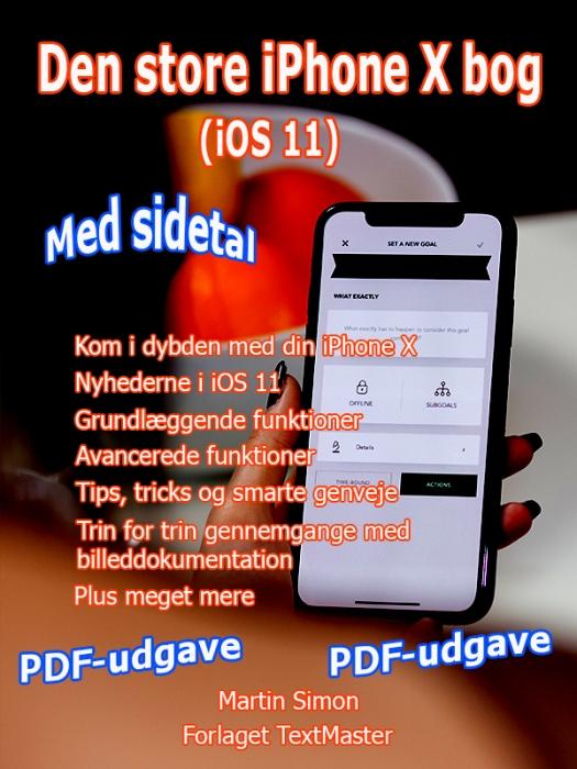 Image of   Den store iPhone X bog (iOS 11) (E-bog)