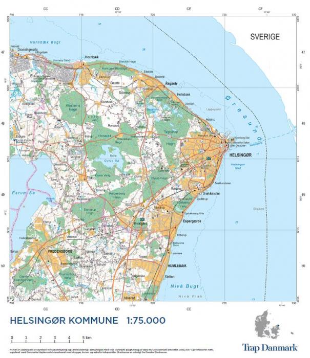 Trap Danmark Kort Over Helsingor Kommune Af Trap Danmark Som Bog