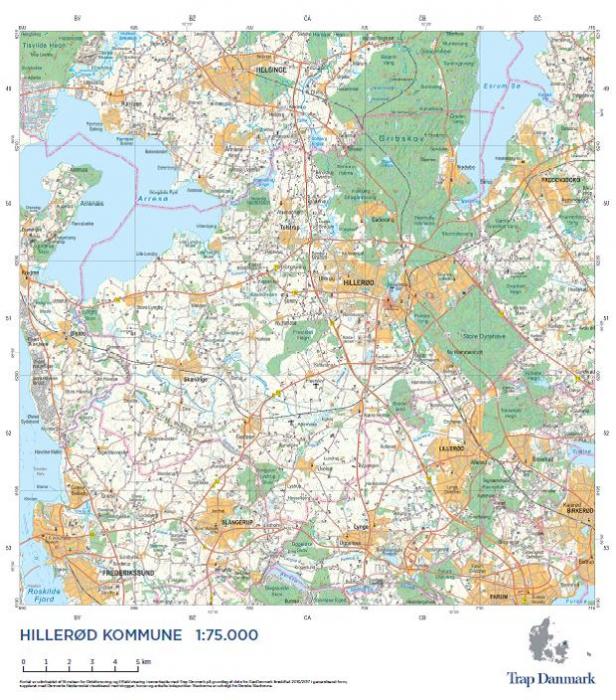 Trap Danmark: Kort over Hillerød Kommune (Bog)