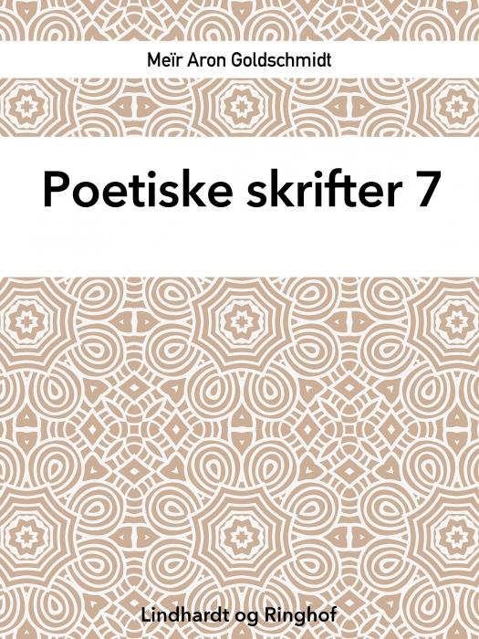 Poetiske skrifter 7 (Bog)