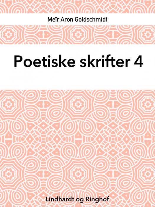 Poetiske skrifter 4 (Bog)
