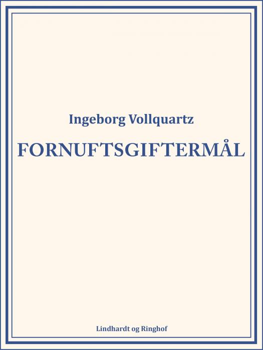 Image of   Fornuftsgiftermål (Bog)