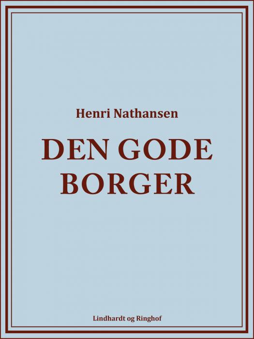 Image of   Den gode borger (Bog)