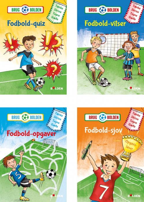 Image of   Fodbold-aktivitetsbøger 1-4 (display med 20 stk ass.) Pris pr. stk.: 20,00 (Bog)