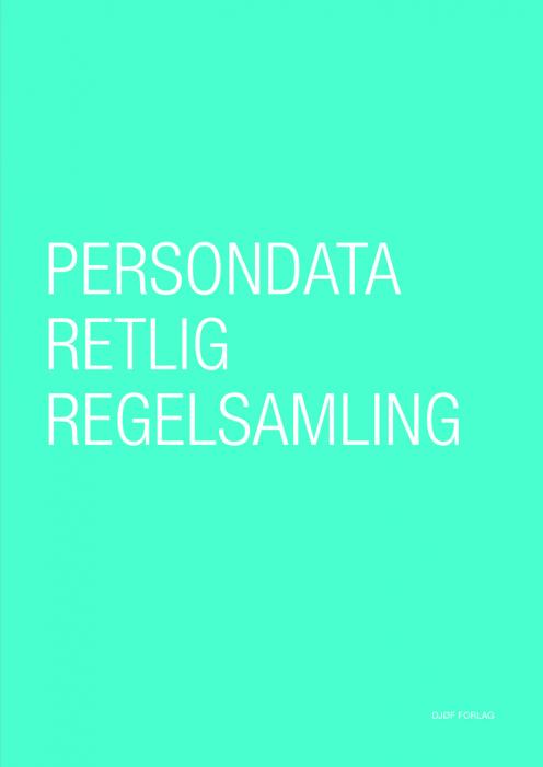 Image of   Persondataretlig regelsamling (Bog)