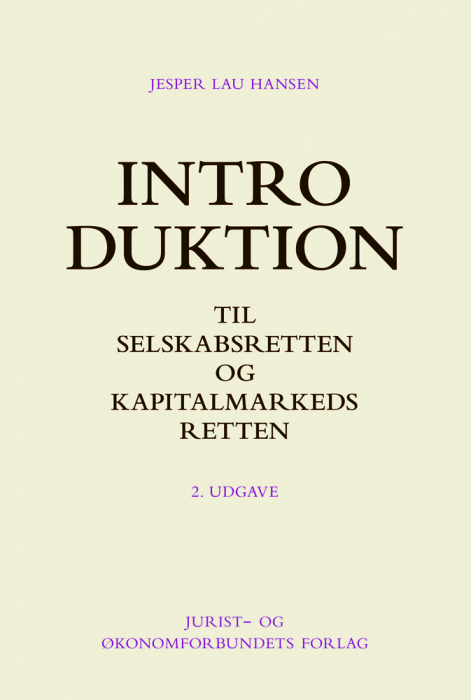 Introduktion til selskabsretten og kapitalmarkedsretten (Bog)