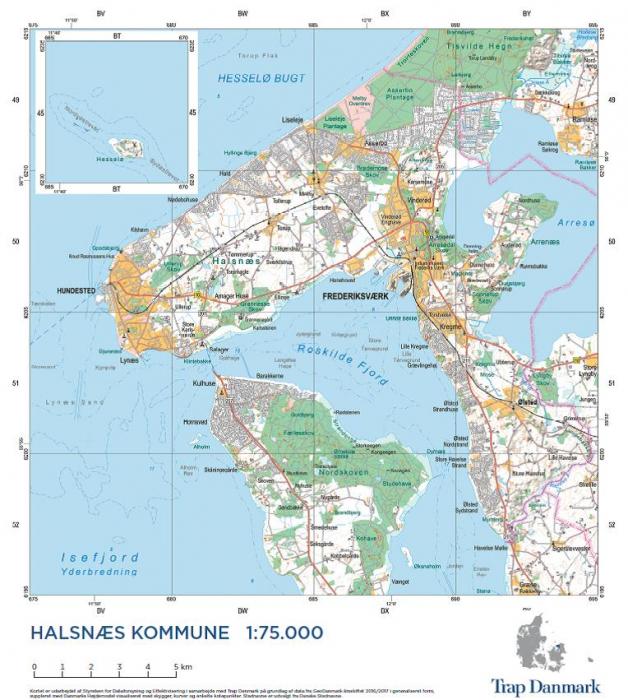 Trap Danmark: Falset kort over Halsnæs Kommune (Bog)