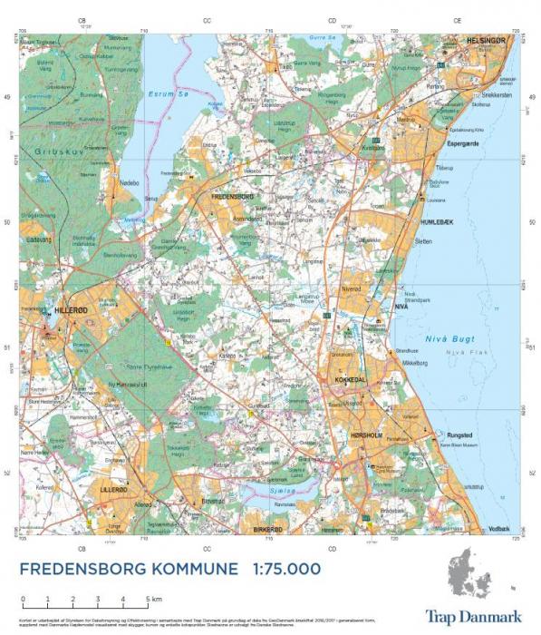 Trap Danmark Falset Kort Over Fredensborg Kommune Af Trap Danmark